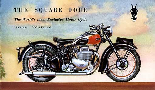 0127 1949-1950 Ariel 4G 1000cc Square four parts book
